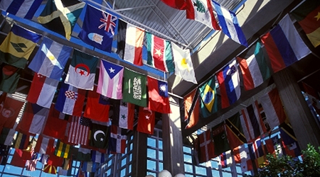 Smithgall student services (Flag Building) atrium